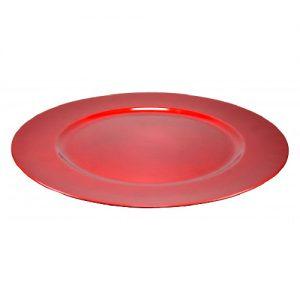 Raudonas padėklas, Ø 33 cm, 1 vnt.