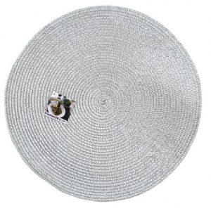 Stalo padėkliukas sidabro spalvos HAUSHALTS, Ø 38 cm